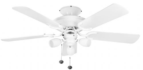 "Fantasia Mayfair Combi 42"" White Ceiling Fan +  Light 111825"